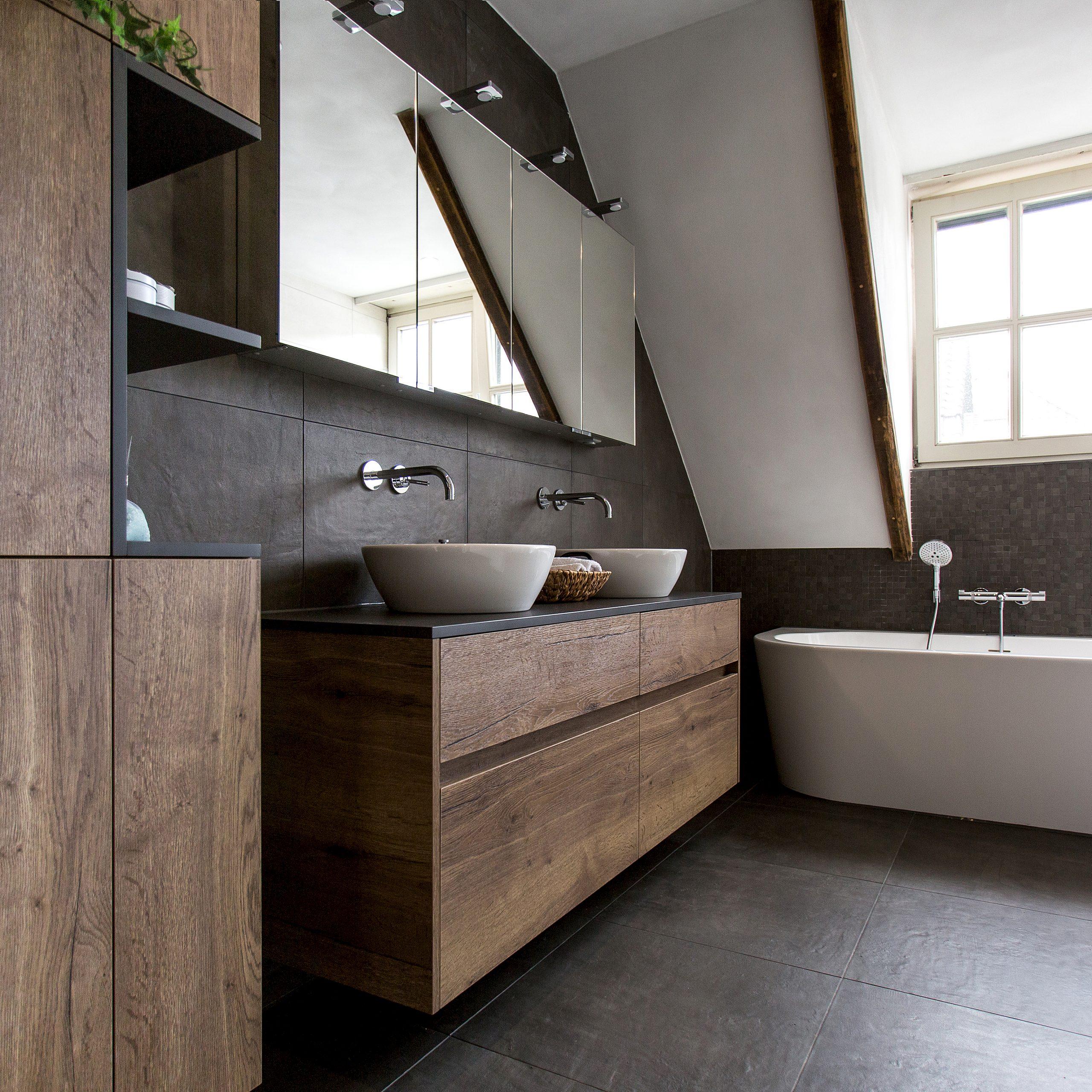 stijlvolle badkamer met maatwerkmeubels